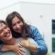 Happy Couple Hugging and Looking Into the Distance - VideoHive Item for Sale