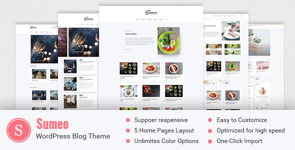Sumeo - Blog WordPress Themes