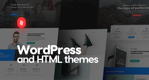 Awesome WordPress and HTML themes of my PSD Templates