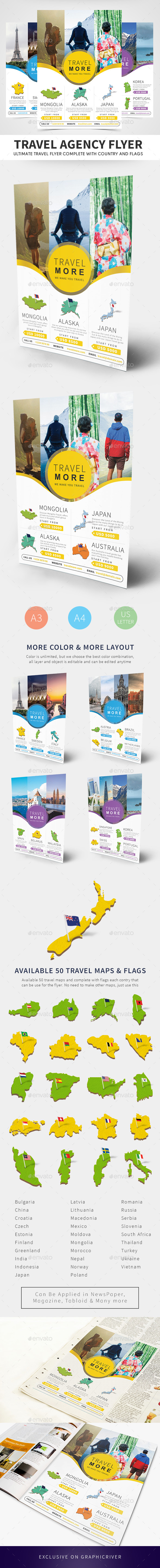 Travel Agency Flyer Templates - Holidays Events