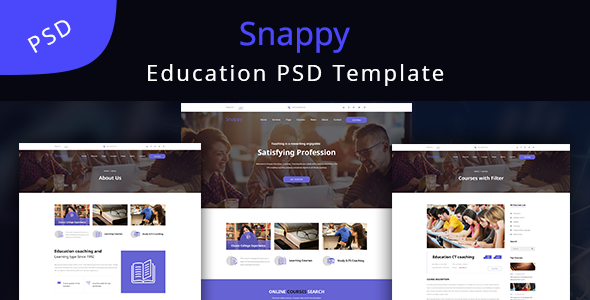 ThemeForest Snappy Education Learning PSD Template 20305949