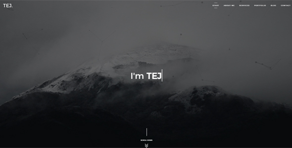 TEJ - Personal Portfolio Template