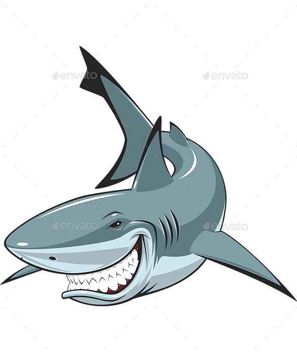 White Smiling Shark - Animals Characters