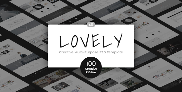 Lovely - Creative Multi-Purpose PSD Template - Creative PSD Templates