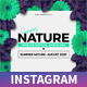 Summer Nature Instagram Post - GraphicRiver Item for Sale
