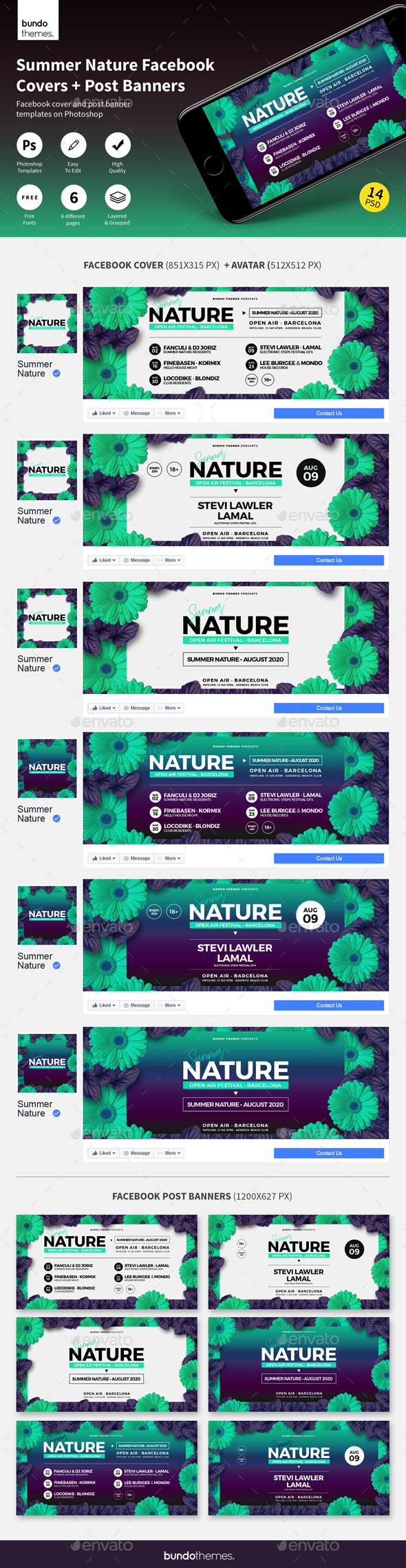 Summer Nature Facebook Covers and Banners