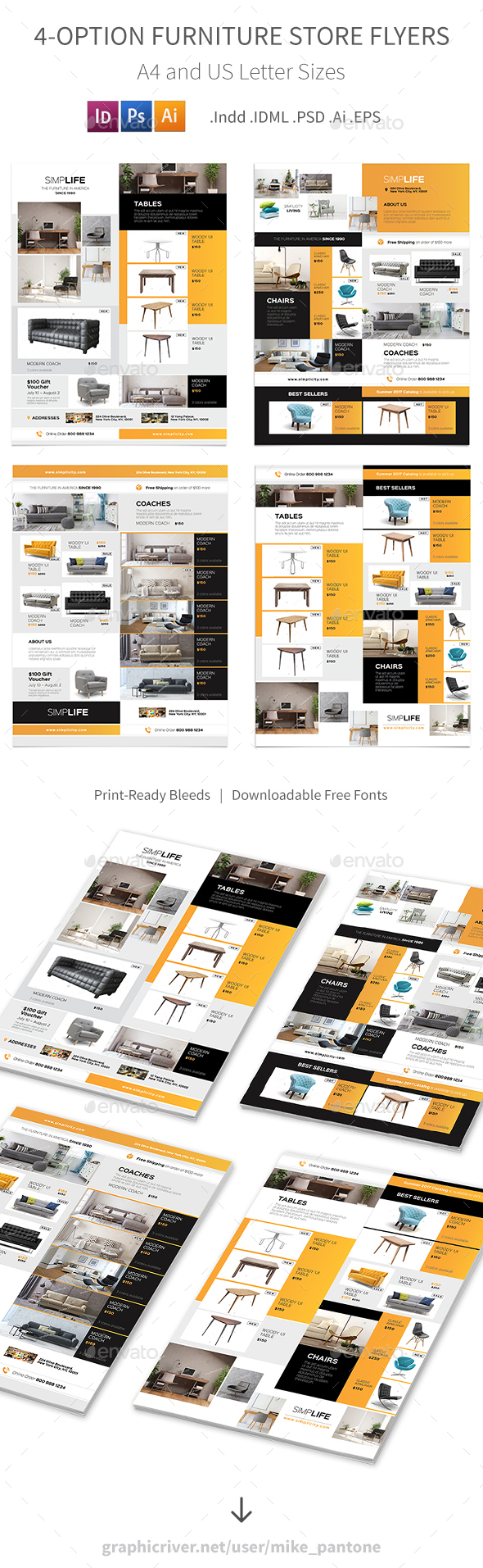 Furniture Store Flyers 3 – 4 Options - Corporate Flyers