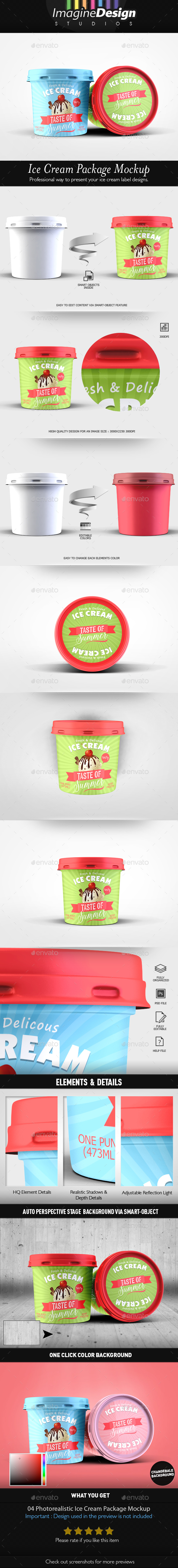 GraphicRiver Ice Cream Package Mockup 20398632
