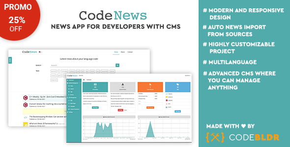 CodeNews - News App for Developers with CMS - CodeCanyon Item for Sale