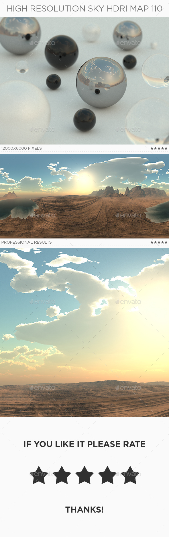 High Resolution Sky HDRi Map 110 - 3DOcean Item for Sale