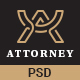 Attorney responsive PSD template - ThemeForest Item for Sale