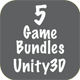 5 Game Bundles Unity3D + Each template Admob integrated + supported for iOS & Android + Unity3D