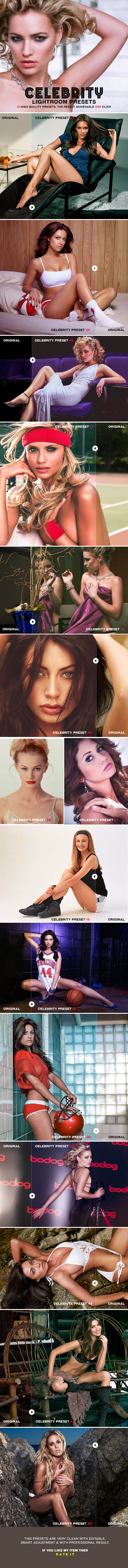 Celebrity Lightroom Presets - Lightroom Presets Add-ons