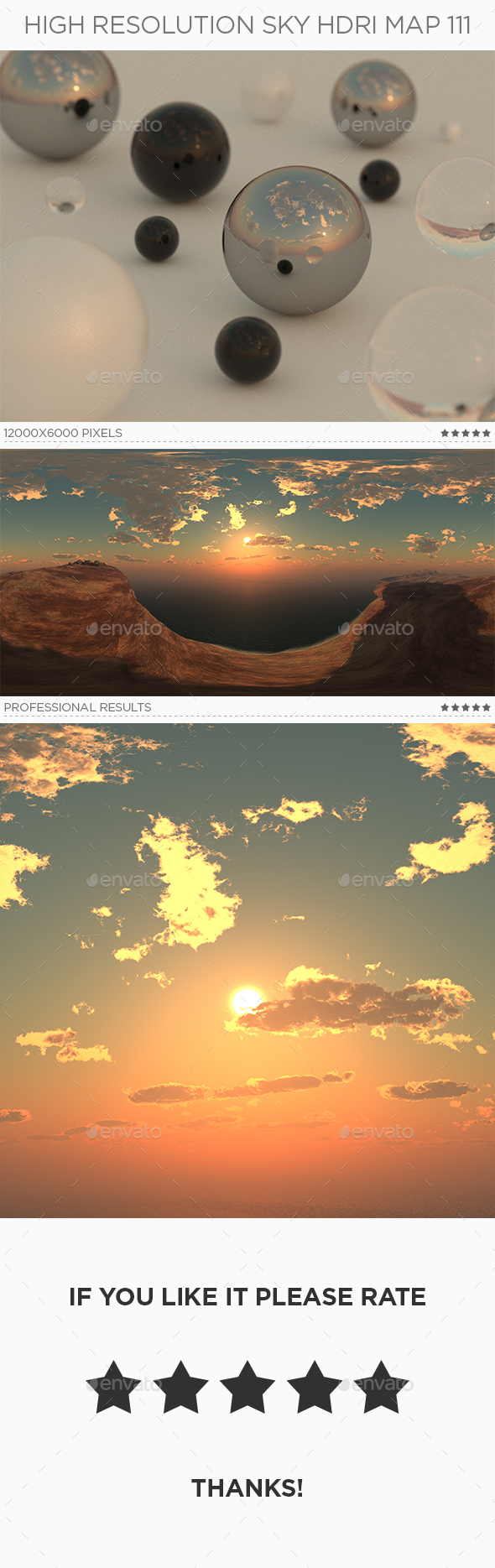 3DOcean High Resolution Sky HDRi Map 111 20398875
