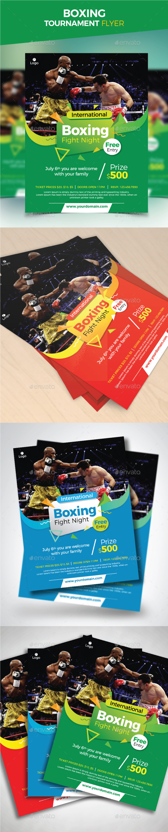 Boxing Tournament Flyer - Sports Events