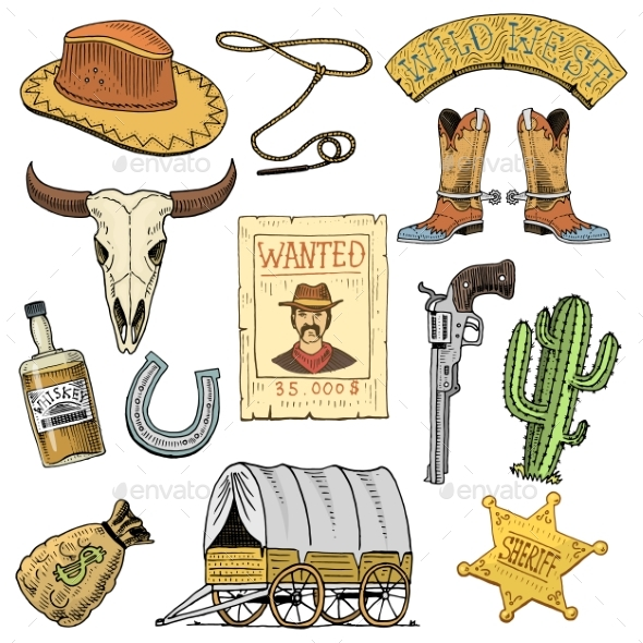 Wild West - Miscellaneous Vectors