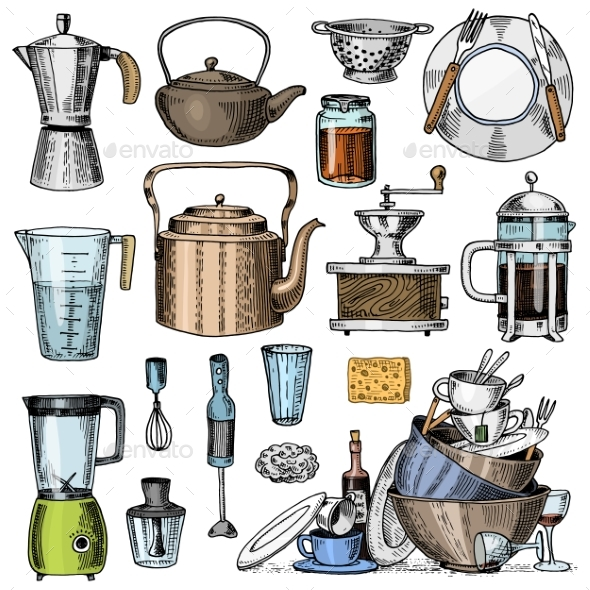 Kitchen Utensils - Food Objects