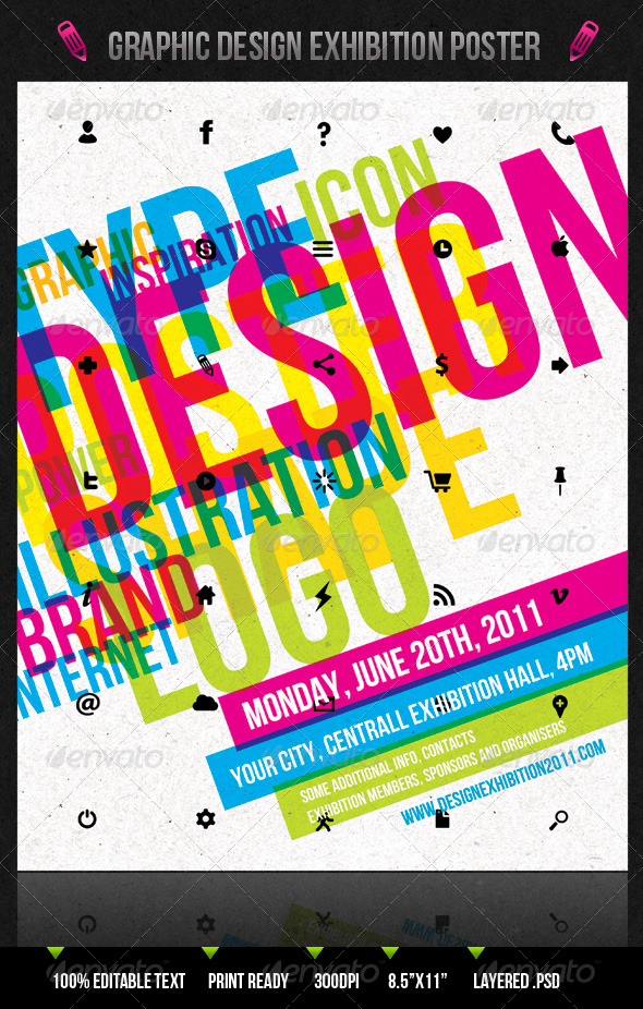 Graphic Design Exhibition Poster Flyer