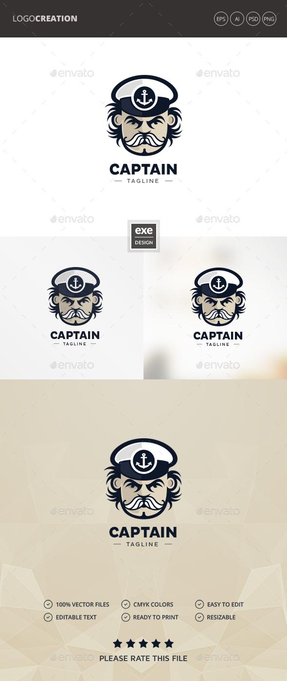 Captain Logo - Humans Logo Templates