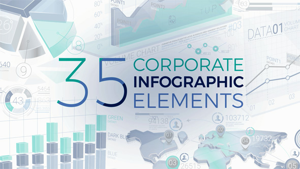 Videohive 35 Corporate Infographic Elements 20399847 - Free download