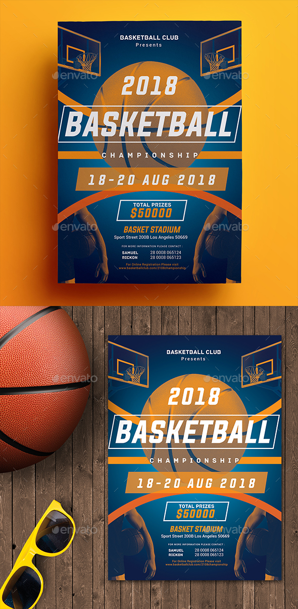 Basketball Championship Flyer - Sports Events