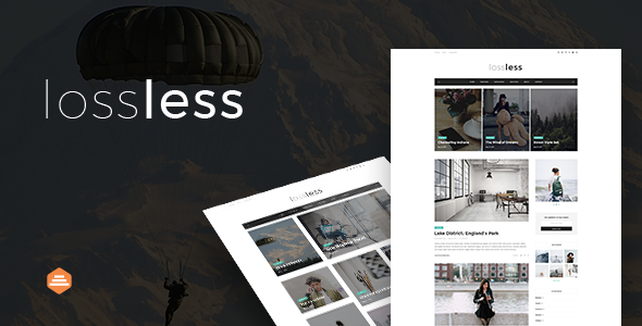 ThemeForest Lossless Blog PSD Template 20399938