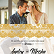 Lace Gold Wedding Invitation
