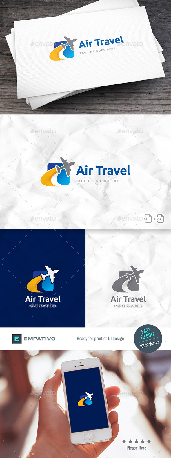 Air Travel Logo Template - Symbols Logo Templates