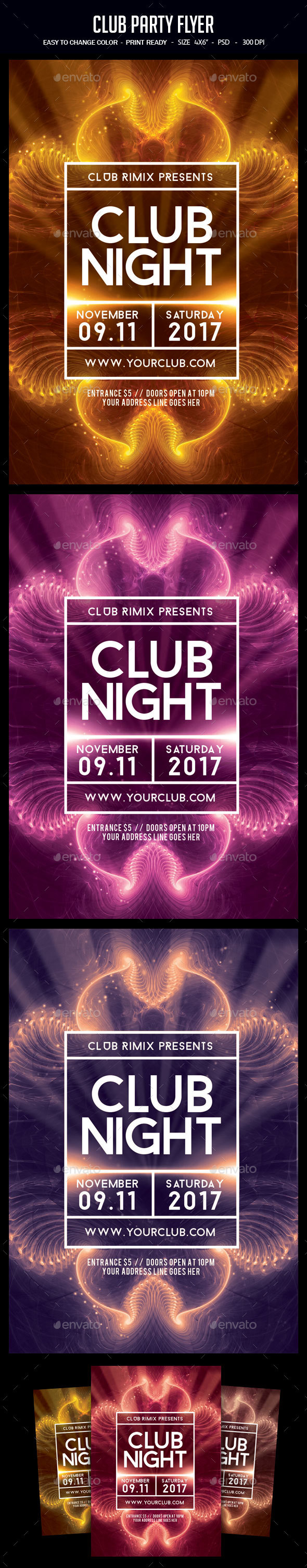 Club Party Flyer - Clubs & Parties Events