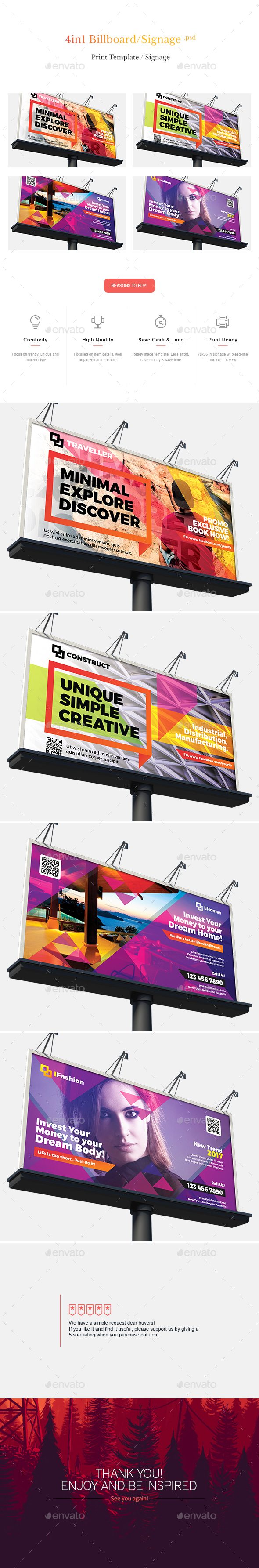 Billboard & Signage Bundle - Signage Print Templates