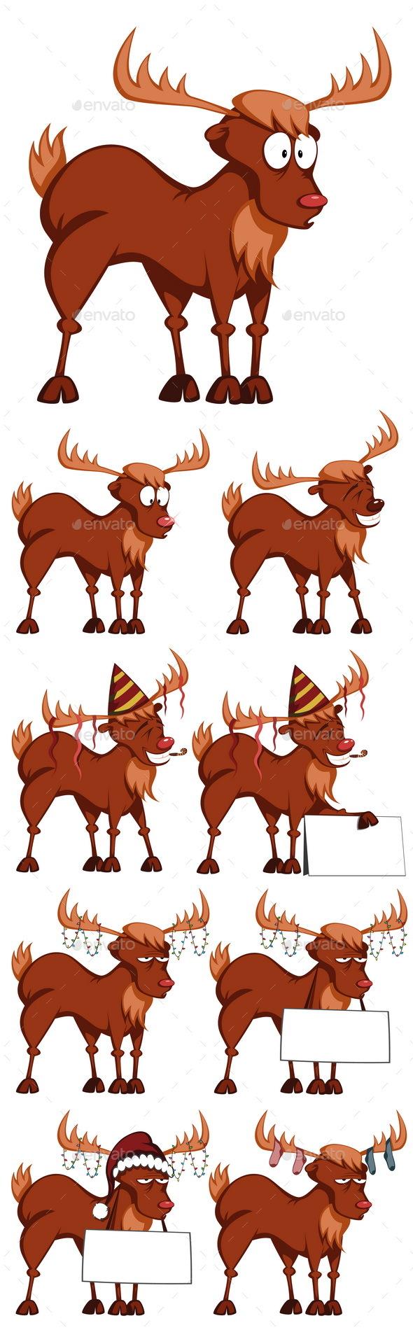 Cartoon Reindeers - Animals Characters