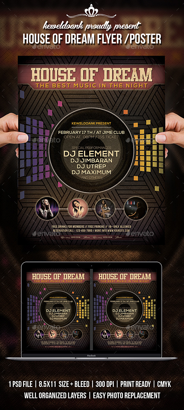 House Of Dream Flyer / Poster - Clubs & Parties Events