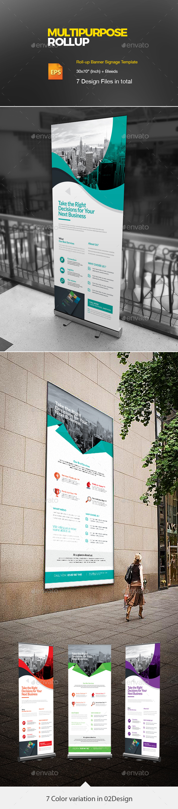 Corporate Roll up Bundle 2 in 1 - Signage Print Templates