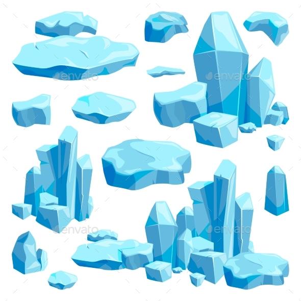 GraphicRiver Broken Pieces of Ice Game Design Vector 20400487