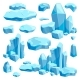 Broken Pieces of Ice. Game Design Vector