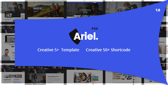 Download Ariel – Multi-Purpose PSD Template