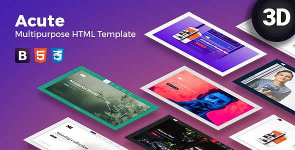 Acute Multipurpose | Coming Soon | HTML Template - Specialty Pages Site Templates