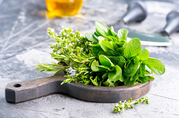 fresh herb - Stock Photo - Images