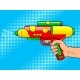 Hand with Water Gun Pop Art Vector Illustration - GraphicRiver Item for Sale