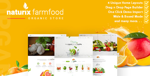 Naturix - Organic Store Woocommerce Theme with Drag n Drop Page Builder