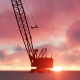 Building Construction Crane and Clouds - VideoHive Item for Sale