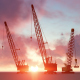 Building Construction Crane and Sunset - VideoHive Item for Sale