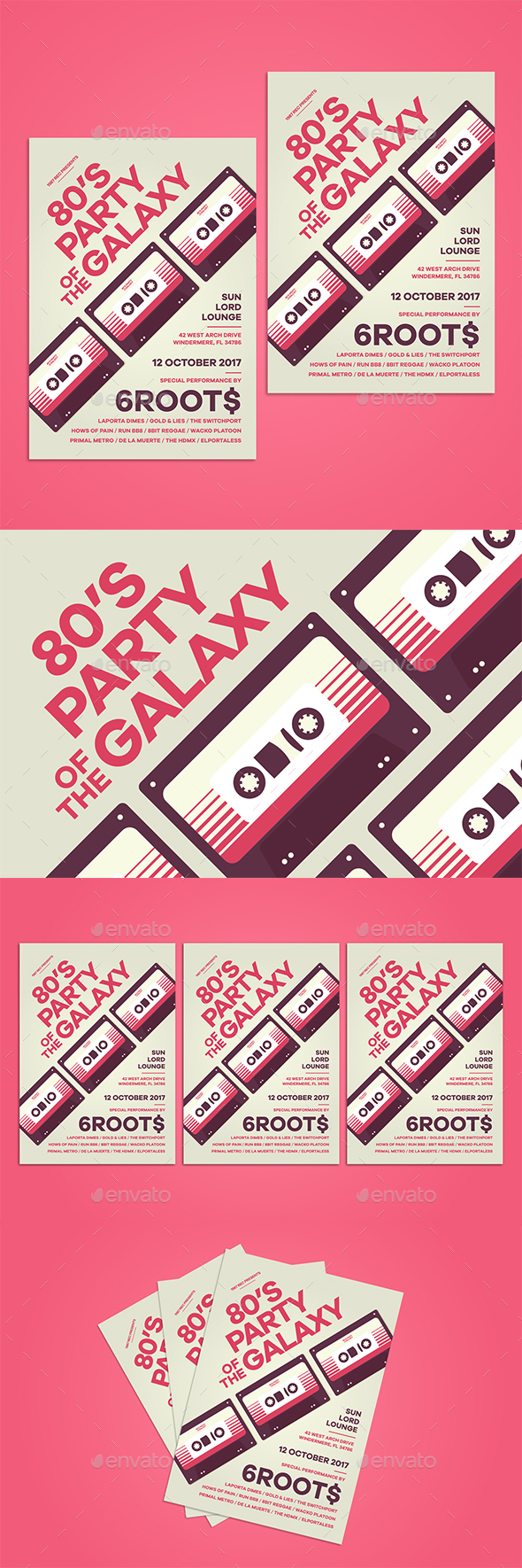 80's Party Flyer - Clubs & Parties Events