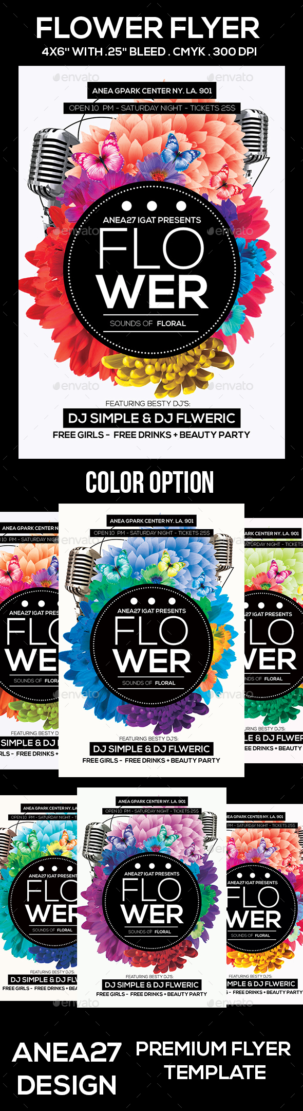 Flower Flyer - Clubs & Parties Events