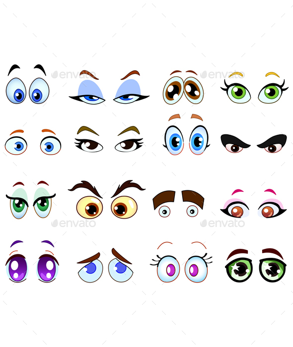 GraphicRiver Cartoon Eyes 20401485