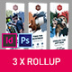 Rollup Stand Banner Display Brush 3x InDesign and Photoshop Template - GraphicRiver Item for Sale