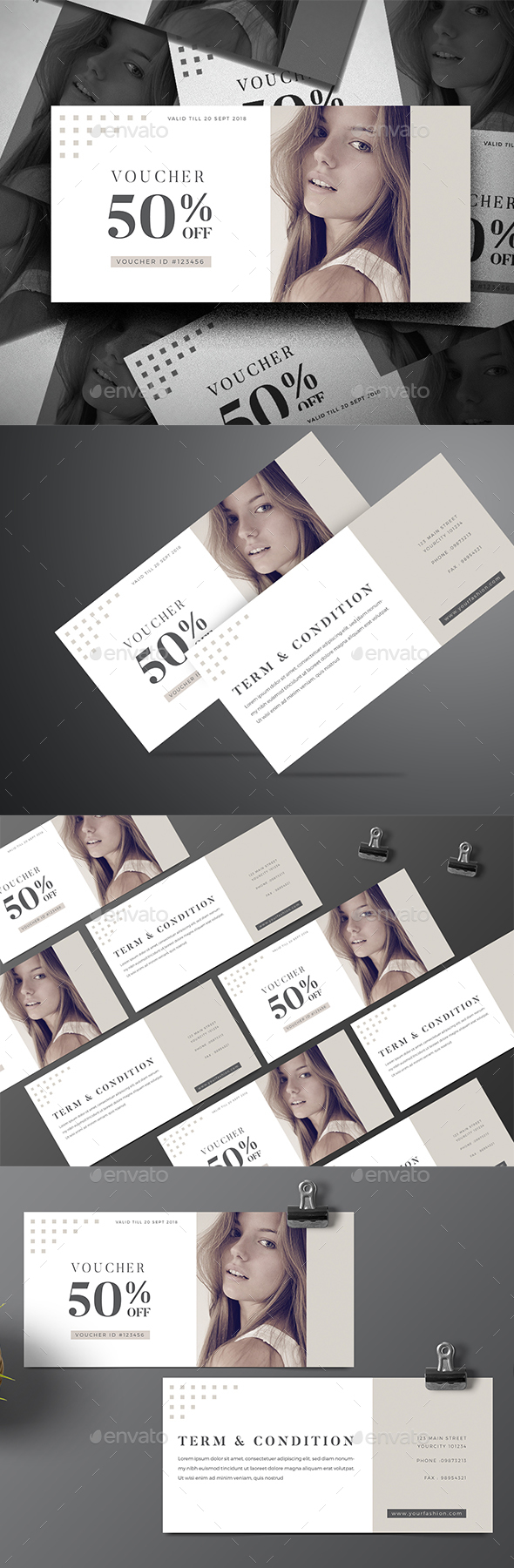 Fashion Sale Voucher - Cards & Invites Print Templates