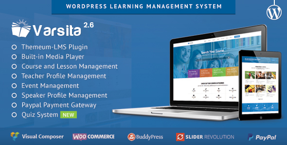 Varsita - Education Theme, A Learning Management System for WordPress