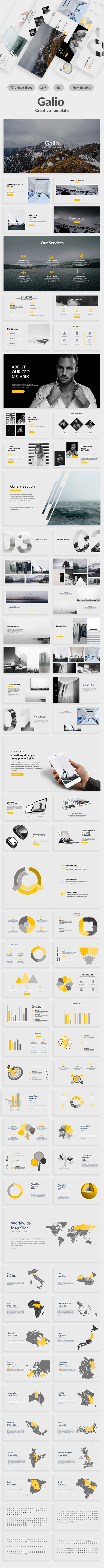 Galio Creative Google Slide Template - Google Slides Presentation Templates