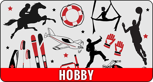 Hobbies Animation - Flat Animated Icons and Elements